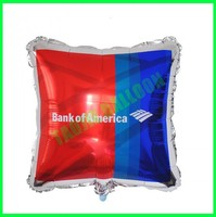 Customized square shaped foil Balloons for promotion