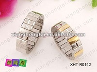 fashion elastic women stainless steel/ titanium size free ring jewelry