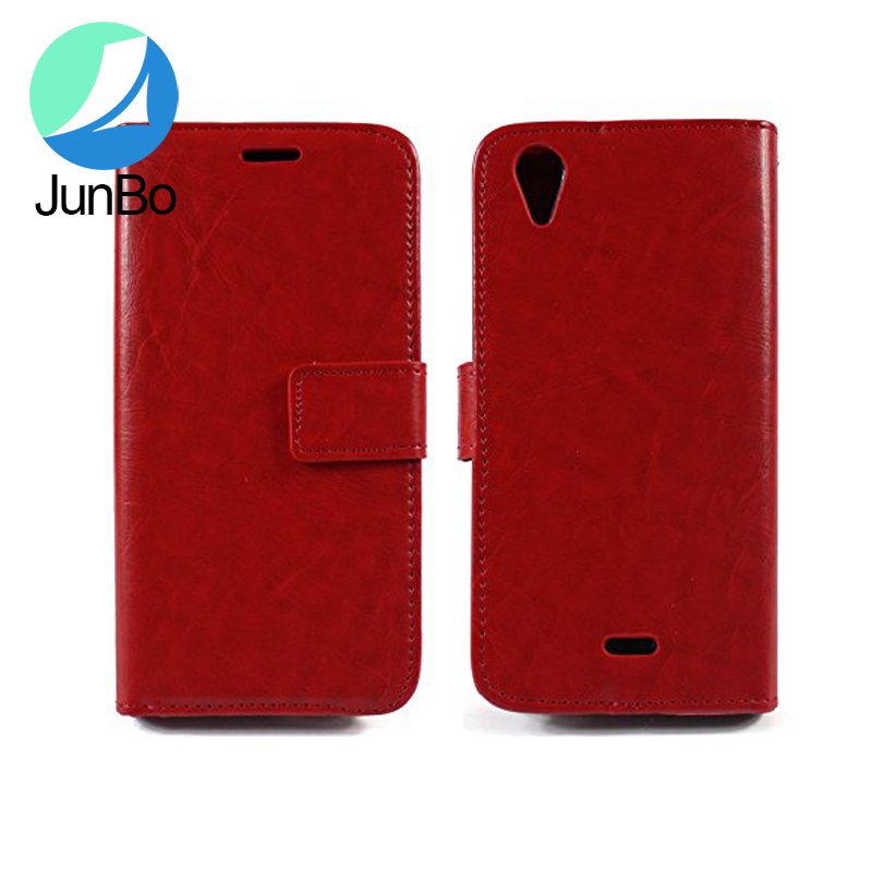 China 2016 New Products Flip Folio PU Leather Wallet Case With ID&Credit Card Pockets For Blu Studio C Super Camera D870U