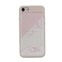 Marble Relief printing protective phone case with card holder for iPhone 7 7PLUS