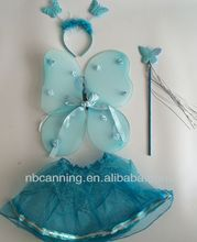 girls fairy wings party favor set/real butterfly wings /Hot selll cute angle wings