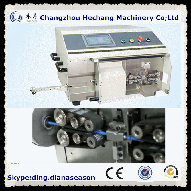 Digital Coaxial cable cutting and Stripping Machine coaxial cable making equipment