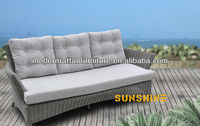 3 Seaters Outdoor Sofa Patio Rattan/Wicker Living Room Furniture