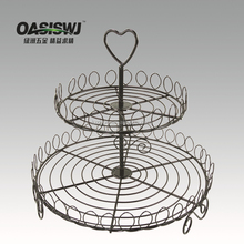 2 tiers of Iron wire cupcake stands for wedding cakes