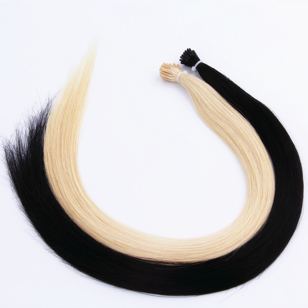 Full cuticle keratin remy prebonded hair extensions for I tip hair