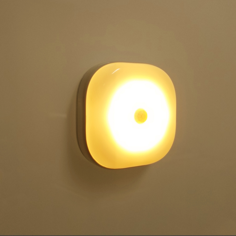 Novelty Round LED Night <strong>Light</strong> &amp; Motion Sensor <strong>Control</strong> With Magnetic For Bedroom Closet Cupboard Baby Gift Romantic Wall lamp