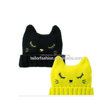 TF-04150808059 2015 hot sell children cute devil turtleneck cap arent-child cap beanie cat ear cap