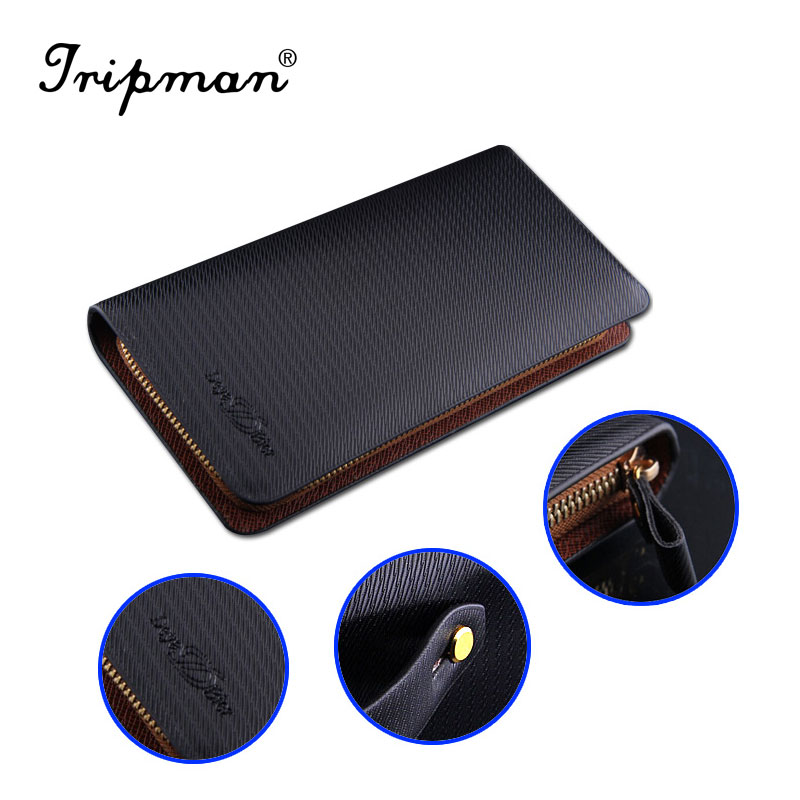 Free shipping! Luxury High Quality Double zipper men handbag PU leather Business man day clutch bag top grade purses and <strong>wallets</strong>