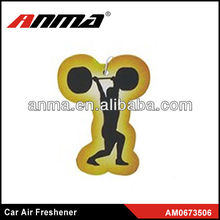 Nice anima cartoon shape car paper air freshener free car air freshener