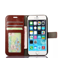 newest Leather Wallet cell phone case For iPhone 6,with Card Slots