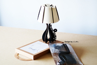 new invention white wooden led table lamp
