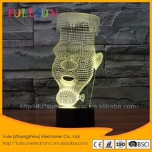 FS-3042 3d visual led night lights usb power 3d lamp 3d led deco lamp