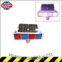 Red Blue Flashing Strobe Road Traffic Warning Light