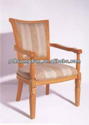 Italy leather and wood armchair HDAC212-1