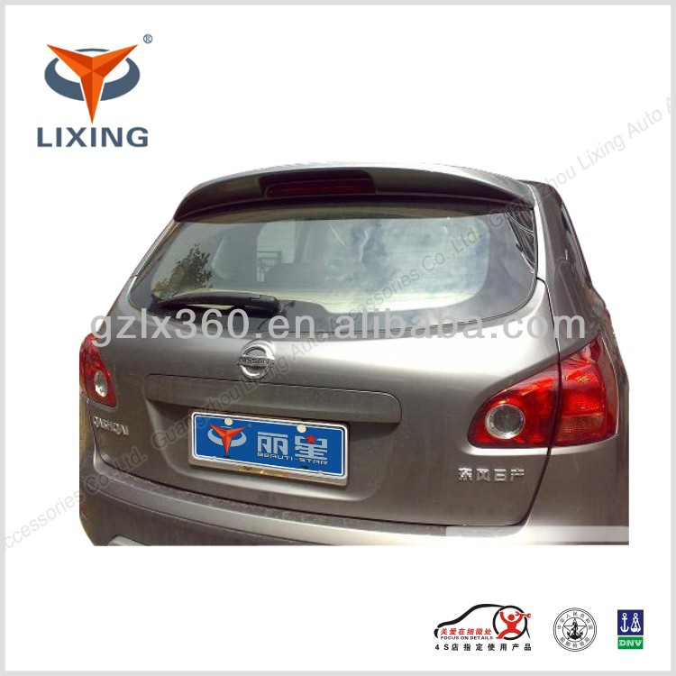 LX-NIS019 QASHQAI sports car rear wings spoiler with light/screw ABS/FRP