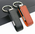 Wholesale Leather USB Flash Drives 4gb 8gb Usb Flash Memory Stick with Embossed Logo