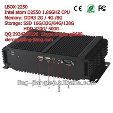 waterproof degree IP65 industrial personal computer, LBOX-2550, support DC input, wide pressure 6~30V