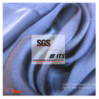 Polyester satin chiffon fabric for evening gown / vave wang wedding dress / wedding gown