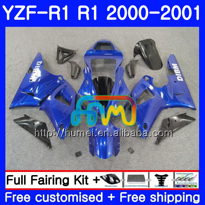 Bodywork For YAMAHA YZF gloss blue 1000 YZF-<strong>R1</strong> 2000 2001 Body 98HM31 YZF1000 YZF R 1 YZFR1 <strong>00</strong> <strong>01</strong> YZF-1000 YZF <strong>R1</strong> <strong>00</strong> <strong>01</strong> Fairing