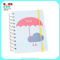 Professional customized hotsale Hardcover Spiral Notebook Printing