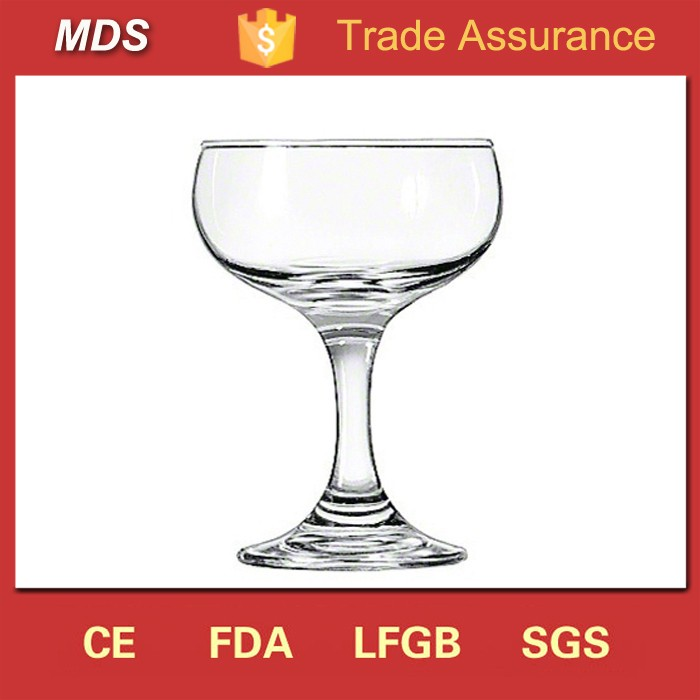 Transparent Coupe Champagne Glasses for China