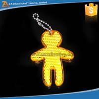 Cheapes Price!! Glow In The Dark Hard Plastic Reflective Pendant,Reflective Keychain,Reflective Bag Hanger For Kids Bag