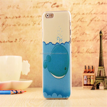 2017 design cheap price blue dolphin fish cartoon PC hard cell phone case for Iphone 5G,5S,5SE,6,6+,7,7+