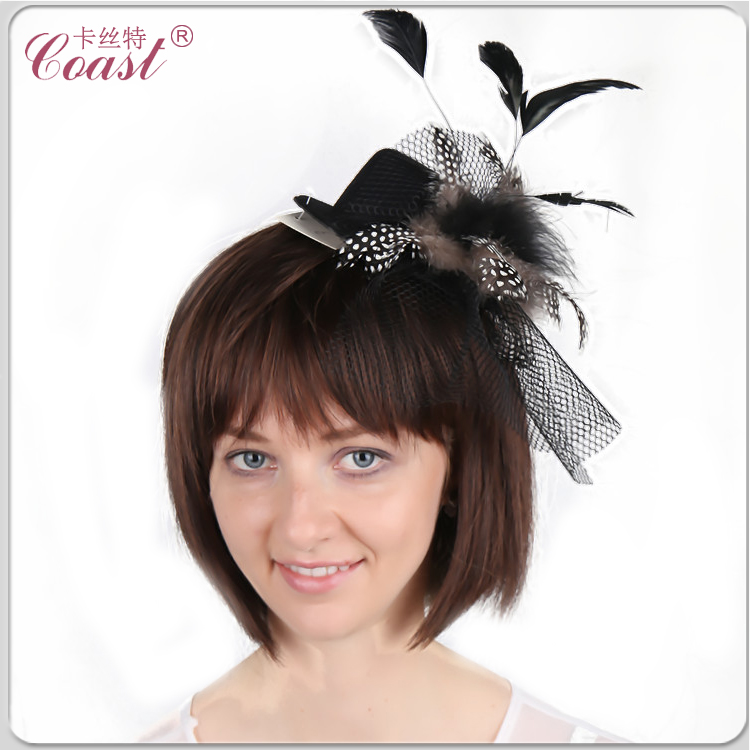 black small top hats with clips for crafts sale