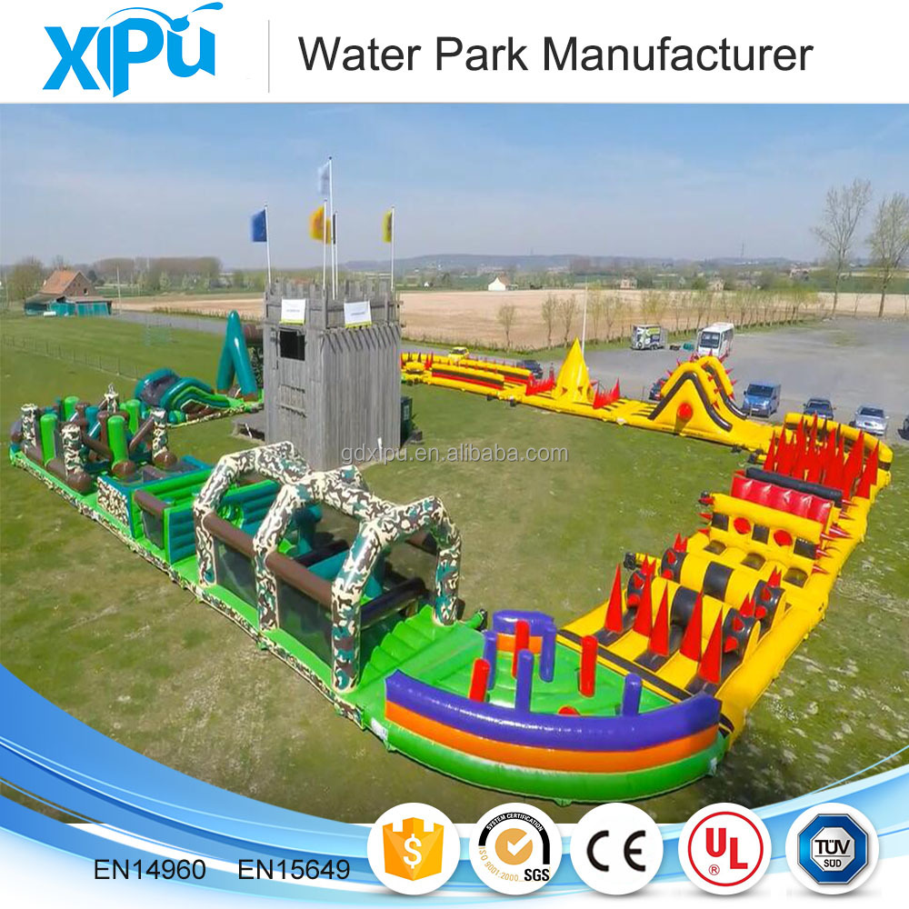 Outdoor inflatable obstacle course equipment with high quality
