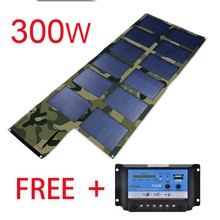 Big campacity 300W(5V ,18V , 1000mA , 16.7A) Portable Solar Chargers Folding Solar Kit Solar Charges Pad, Phone, Tablets