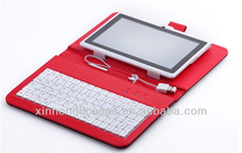 Cloth Grid 7 Inch Tablet PC Keyboard Case For Samsung Tab37'' Case