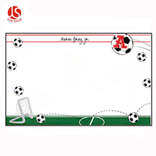 Soccer Frame Printed Plastic Placemat and Coaster