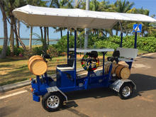 7 seater 3500w electric party type golf cart for 7 person