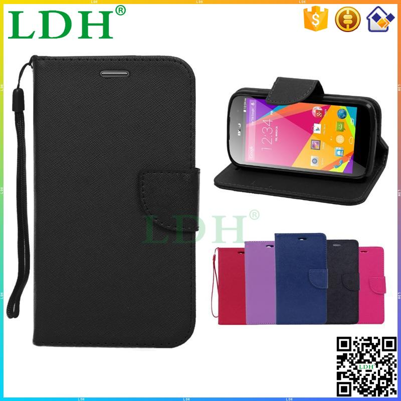 China Suppliers wholesale High end Pu leather stand wallet cell phone case for BLU Studio X Plus/ D770U