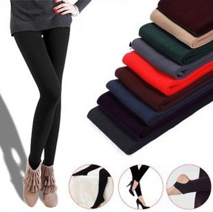 DD019 Autumn and winter fashion wholesale Women leggings charcoal brushed thick nine points even step foot female leggings