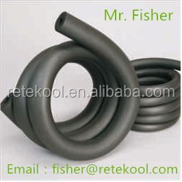 China manufacturer nbr/pvc rubber insulation tube pipe for air conditioner international size