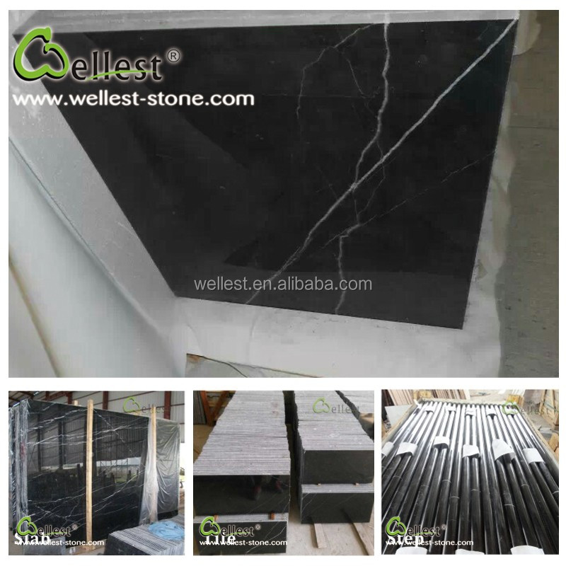 Nero Marquina Black Marble stone with White Veins