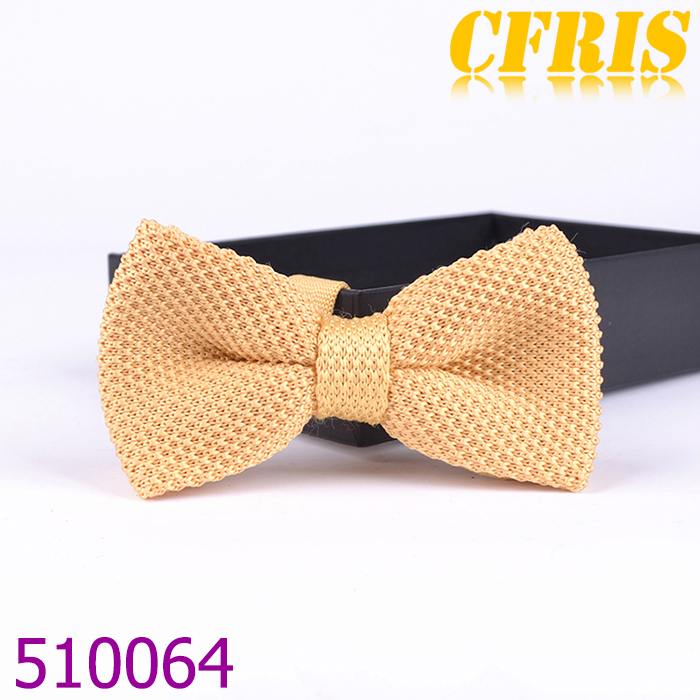 Wholesale various designs knitted cheap bow tie ,yellow soild bowtie