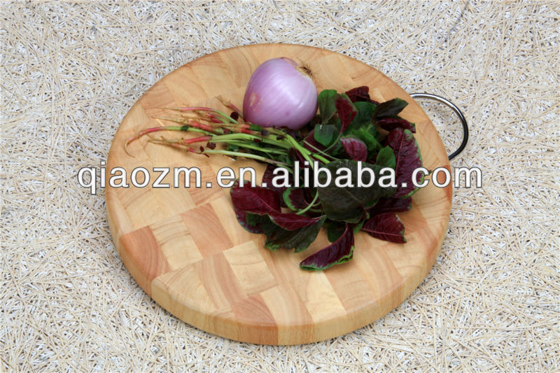 Round Shaped Olive Wood Chopping Board, Rubber Wood