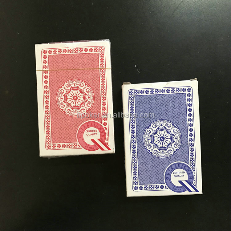 Good quality 57*87mm or customized game paper poker playing cards