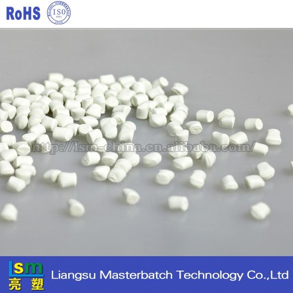 White color masterbatch pellets for plastic wooden spoon machine