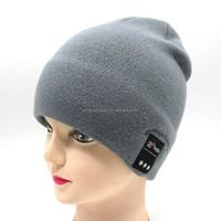 Knitted Wireless Knit Hat Music Cap Fold Blue tooth Beanie hat with headphone