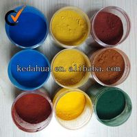 paint pigment powder used red/yellow/black/blue/green /orange 960 iron oxide pigment