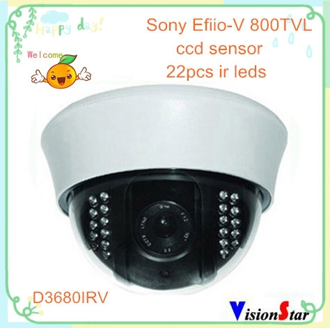 Surveillance home cctv dome camera 800tvl effio-v ccd DSP sony high performance security plastic ir analog camera