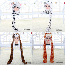 animal hat gloves scarf hat glove sets wholesale winter hats with gloves