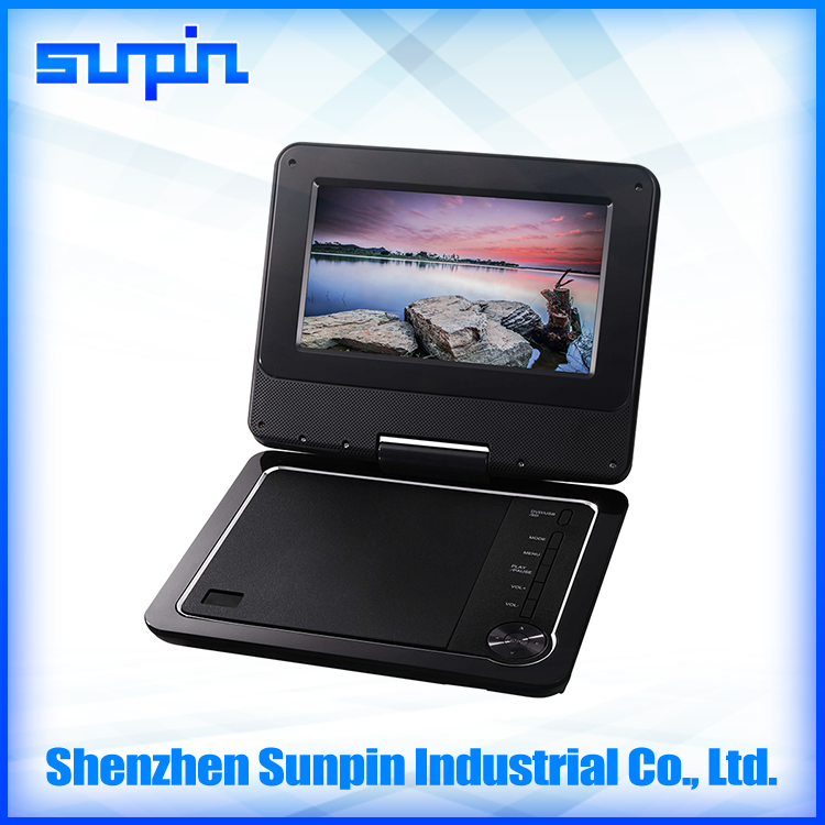 Shenzhen Sunpin factory price portable dvd player new design