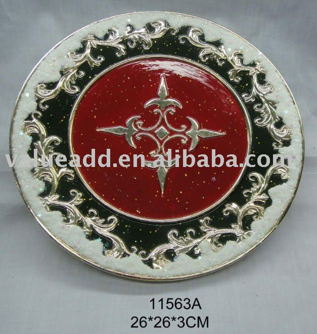 xmas ceramic plate decoration