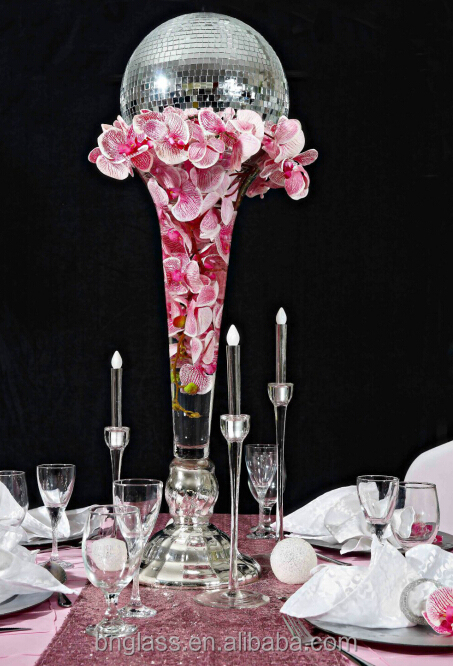 Month-Blown Trumpet Glass Wedding Table Centerpieces