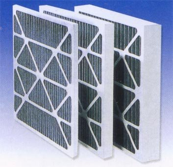 medium efficiency cardboard paper or aluminum frame F5 F6 F7 F8 Air handling unit Pleated Furnace Filter