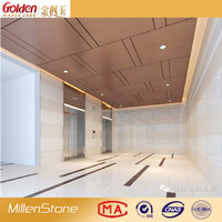 Artificial super white micro crystal flooring tile stone